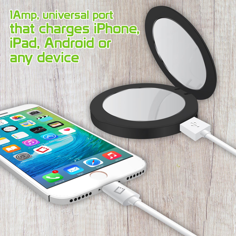 Huawei Mate 9 PowerBank Light Up Mirror Black