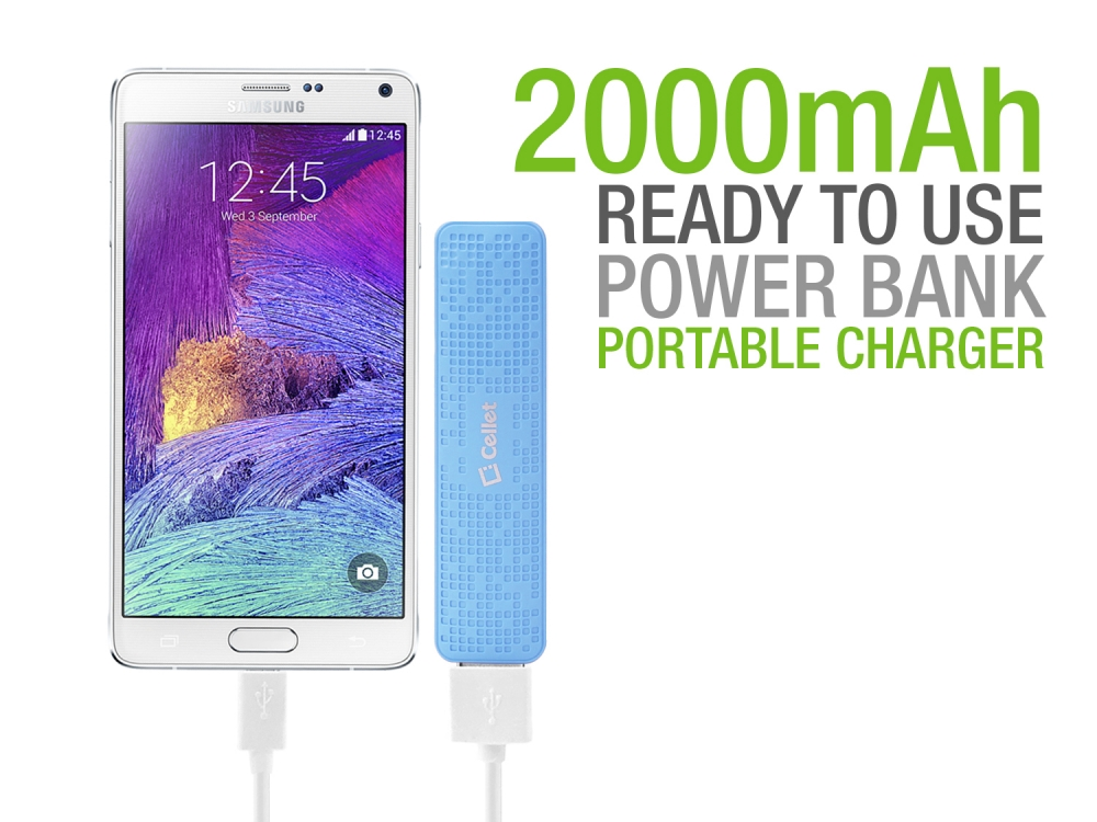 ZTE Max XL USBC Type-C Power Bank 2000ma Blue