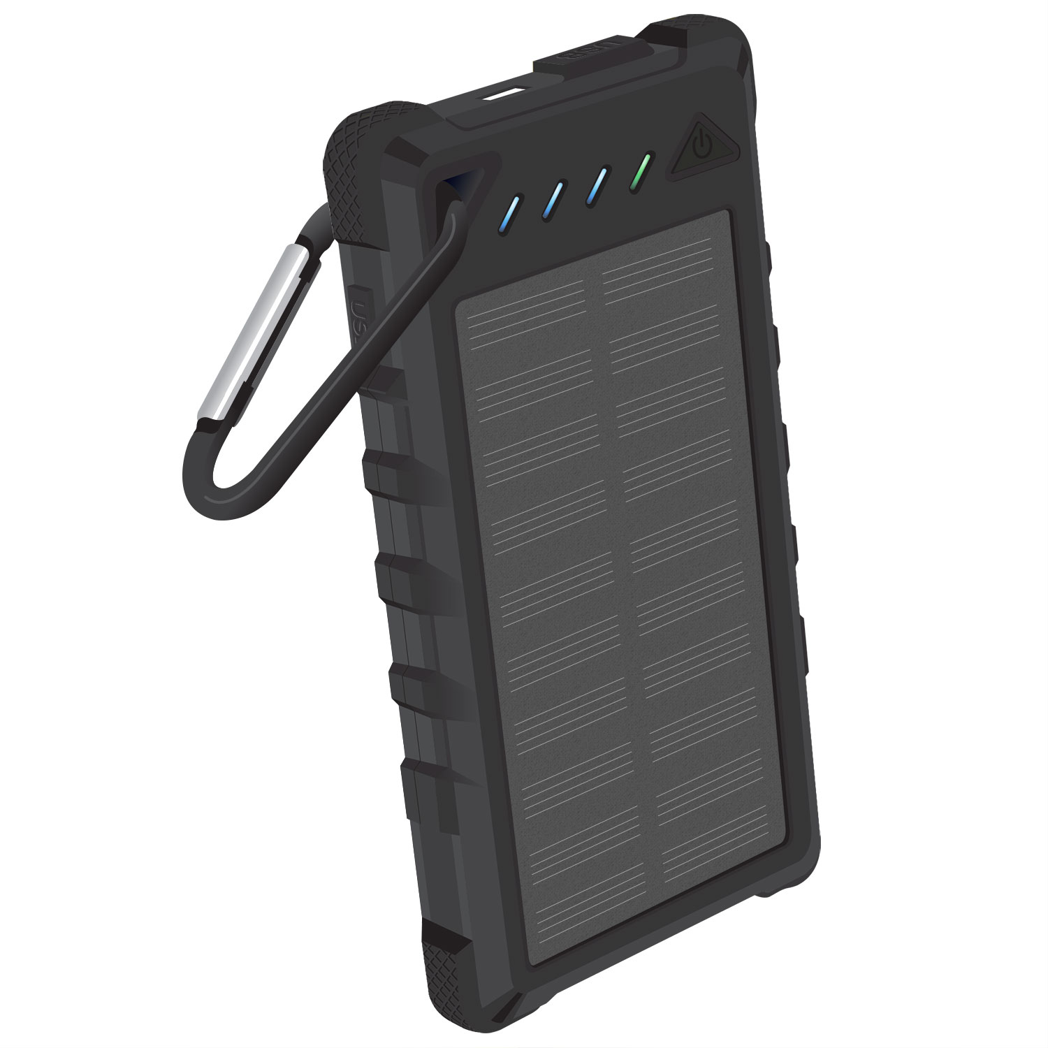 Solar Powered Portable PowerBank Black