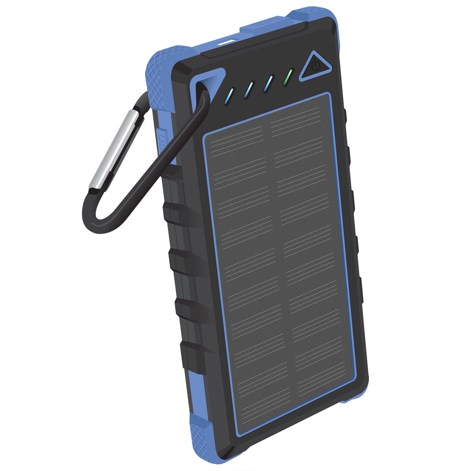 ZTE Max+ Solar Powered Portable PowerBank Blue