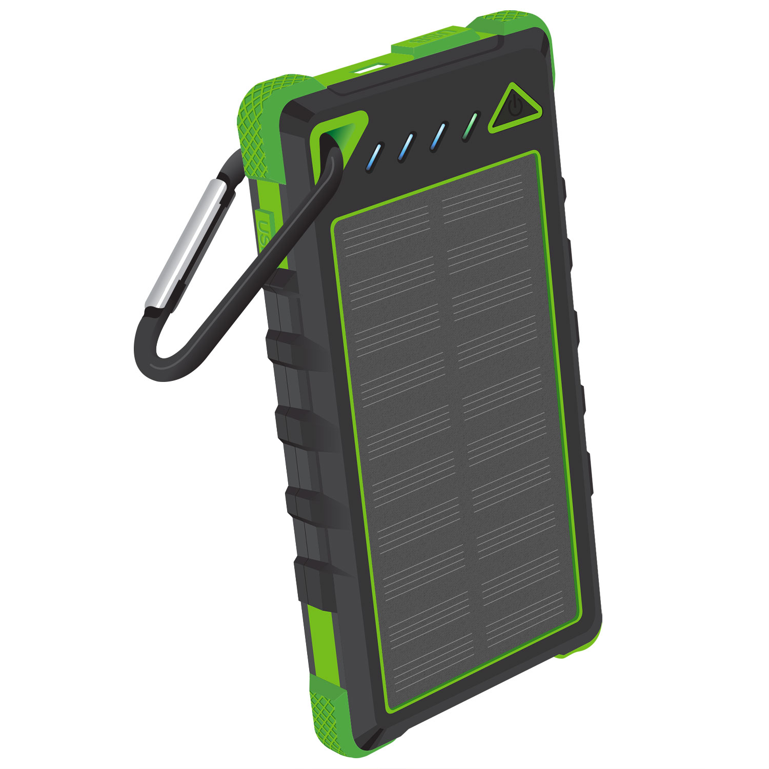 Solar Powered Portable PowerBank Green