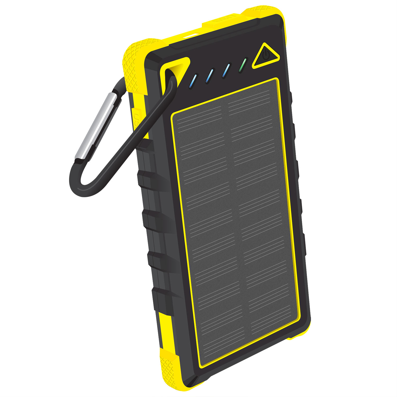 Solar Powered Portable PowerBank Type-C Yellow