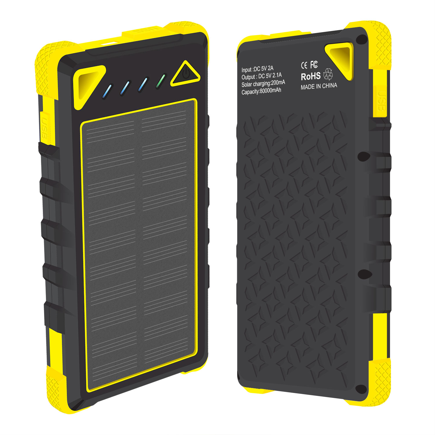 Nokia 2V Solar Powered Portable PowerBank Yellow