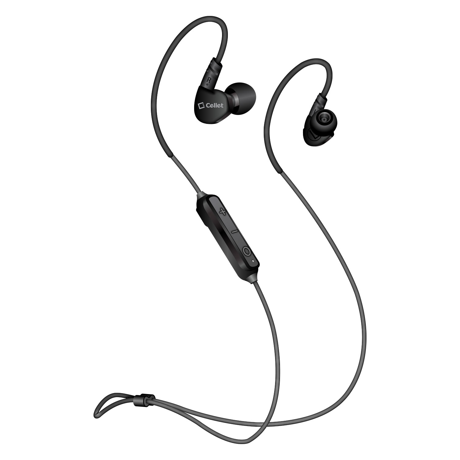 Alcatel Go Flip Bluetooth V5.0 Stereo Earphones Sport Headset Black