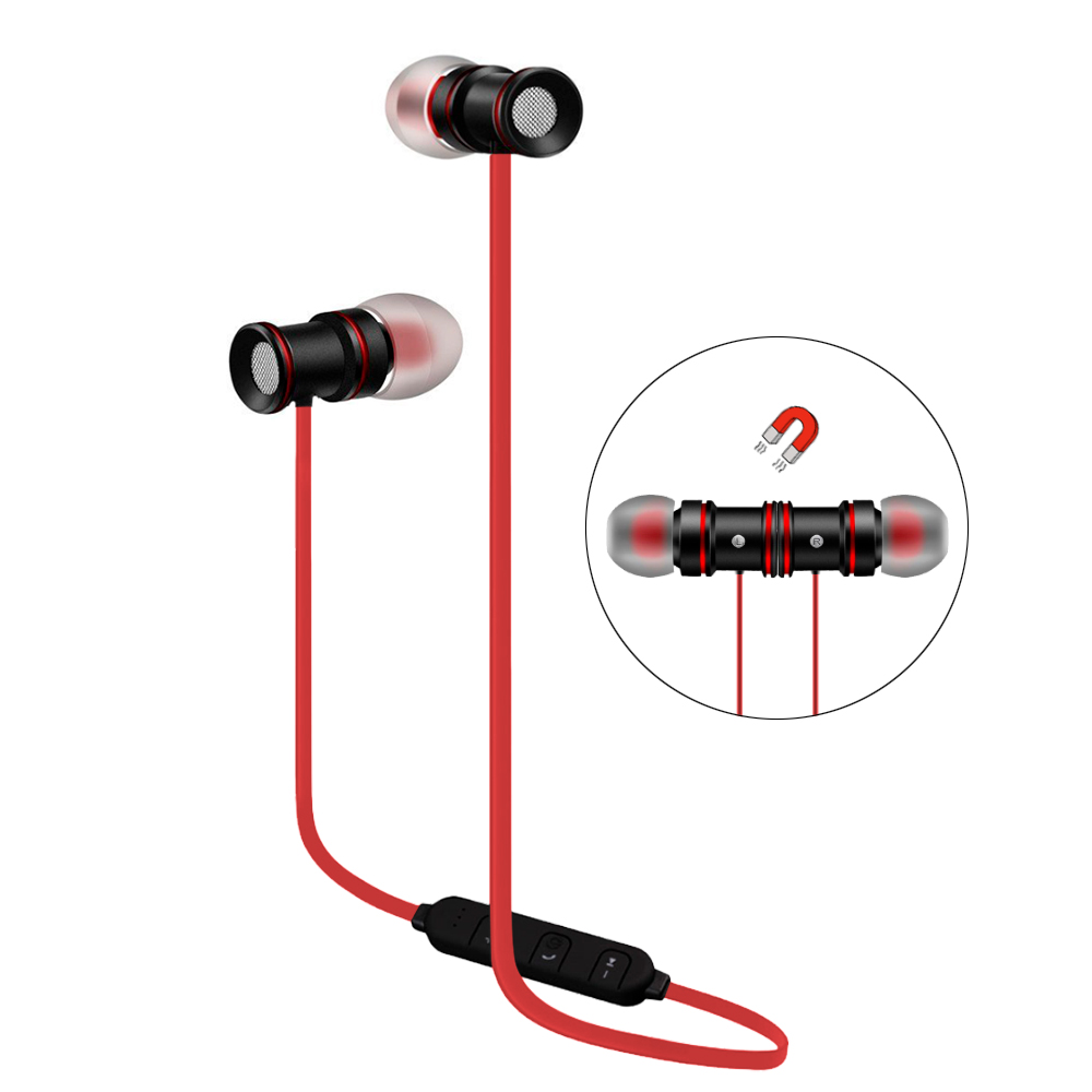 Moto Moto E4 Plus Bluetooth Stereo Earphones Sport Headset Red