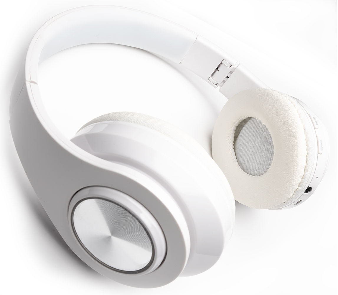 Apple iPhone SE 2020 Wireless Headphones Noise Canceling Over-Ear Hands Free Bluetooth White