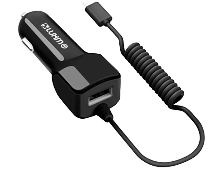 Samsung Galaxy S8 Active USB Type-C Car Charger 2.1A Extra USB Black