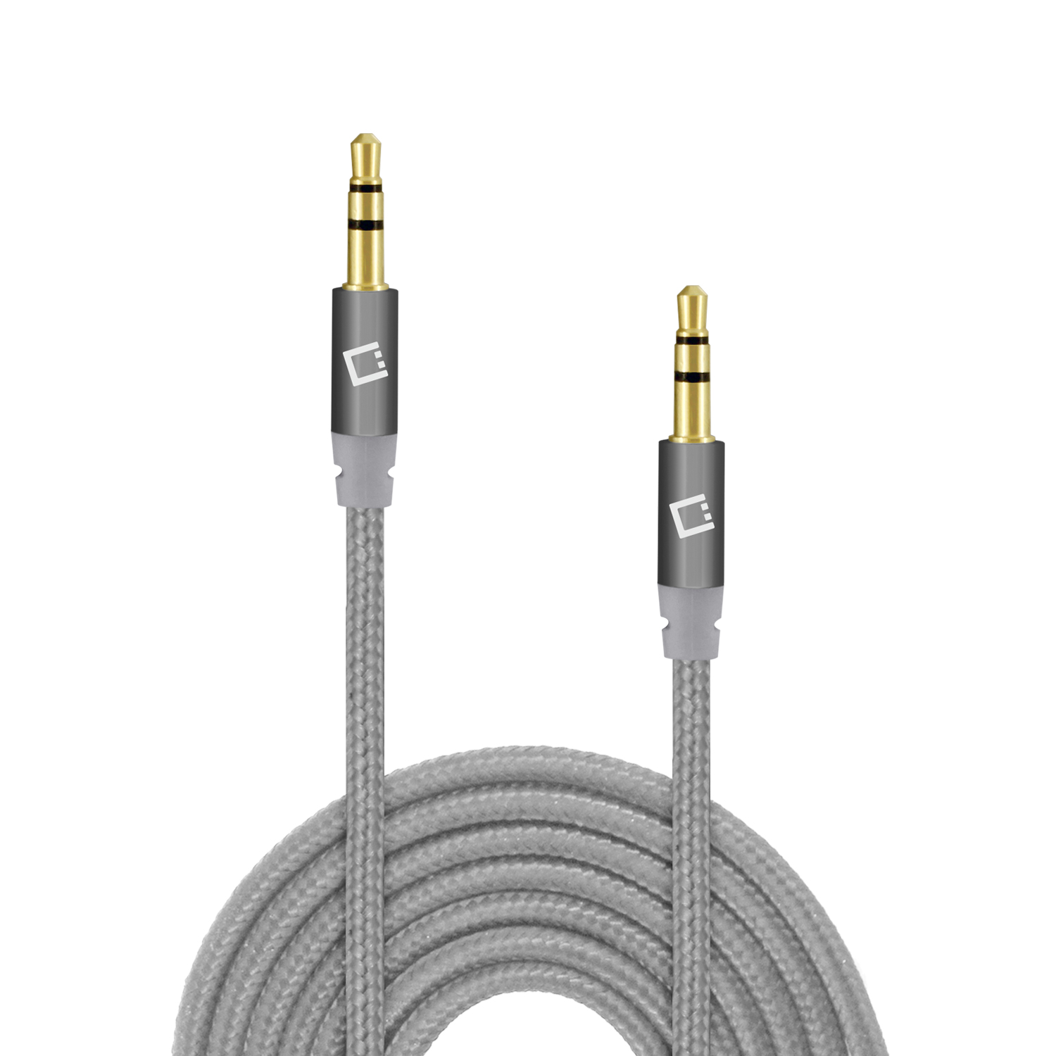 ZTE Blade Vantage 2 Tangle Free Aux Audio Cord 3ft Silver