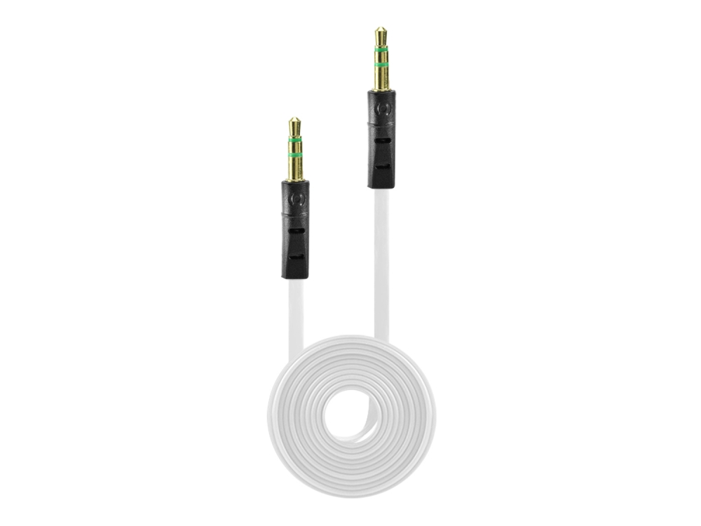 Moto Droid Bionic Tangle Free 3.5mm Auxiliary Audio Cable White