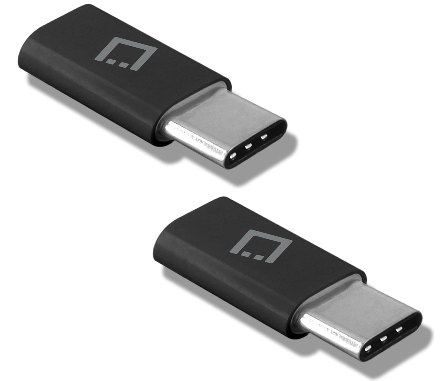 Samsung Galaxy A20 MicroUSB to USB Type-C Adapter Black Pack Of 2