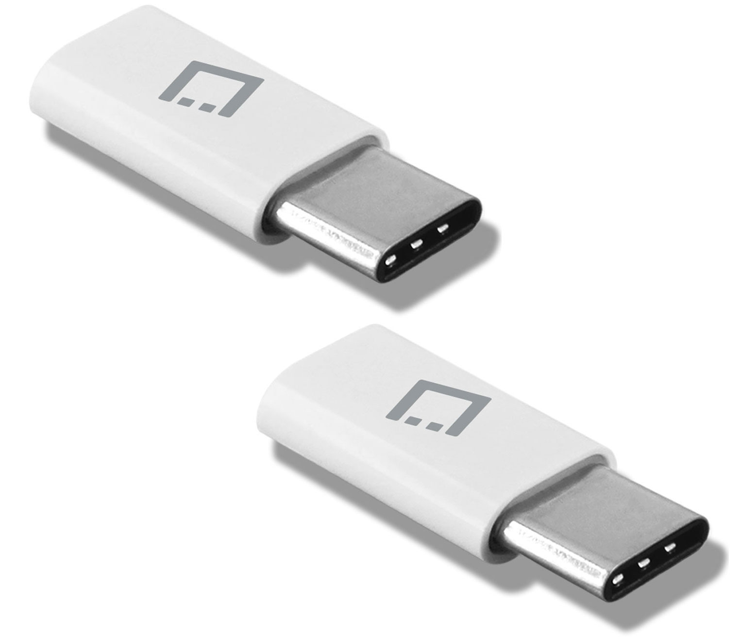 MicroUSB to USB Type-C Adapter White Pack Of 2