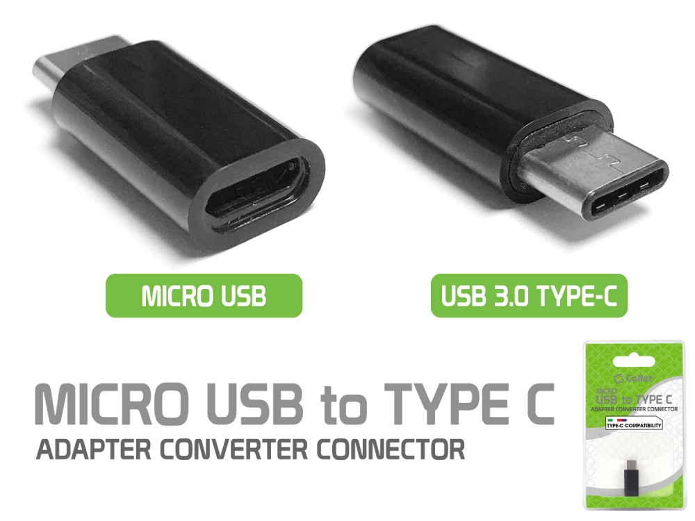 OnePlus 8 MicroUSB to USB Type-C Adapter Black Pack Of 4