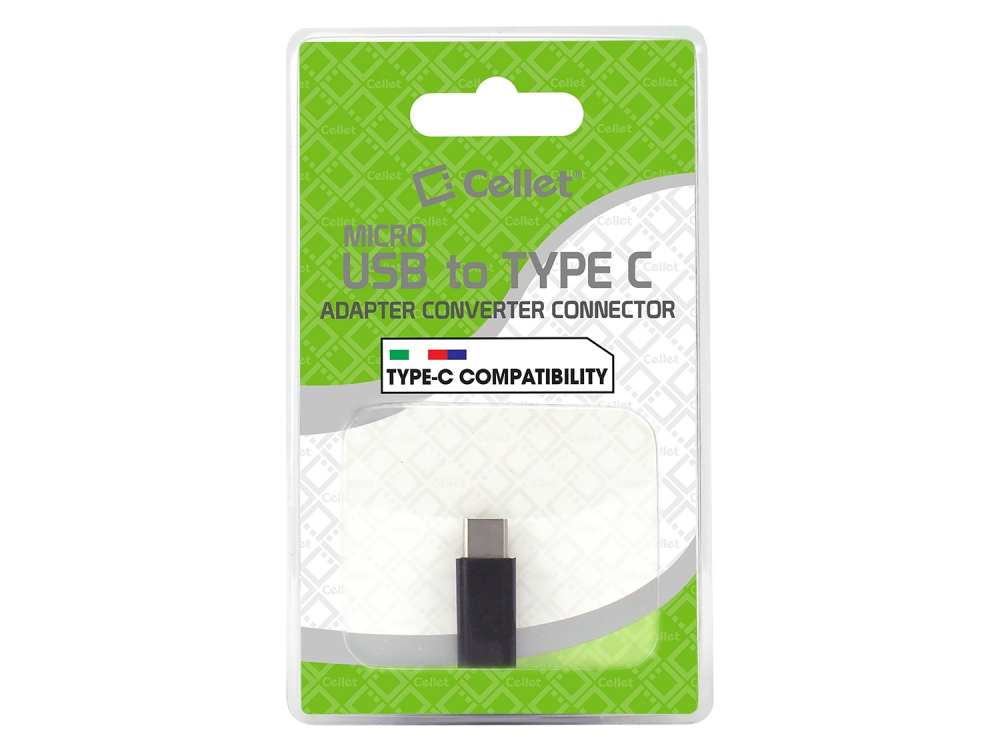 ZTE Blade Spark MicroUSB to USB Type-C Adapter Black Pack Of 2