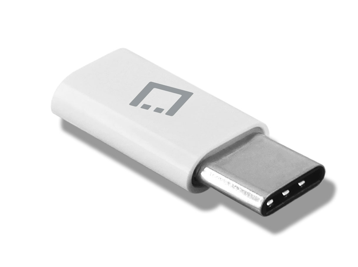 Samsung Galaxy Z Flip Micro USB to USB Type C Adapter Converter White