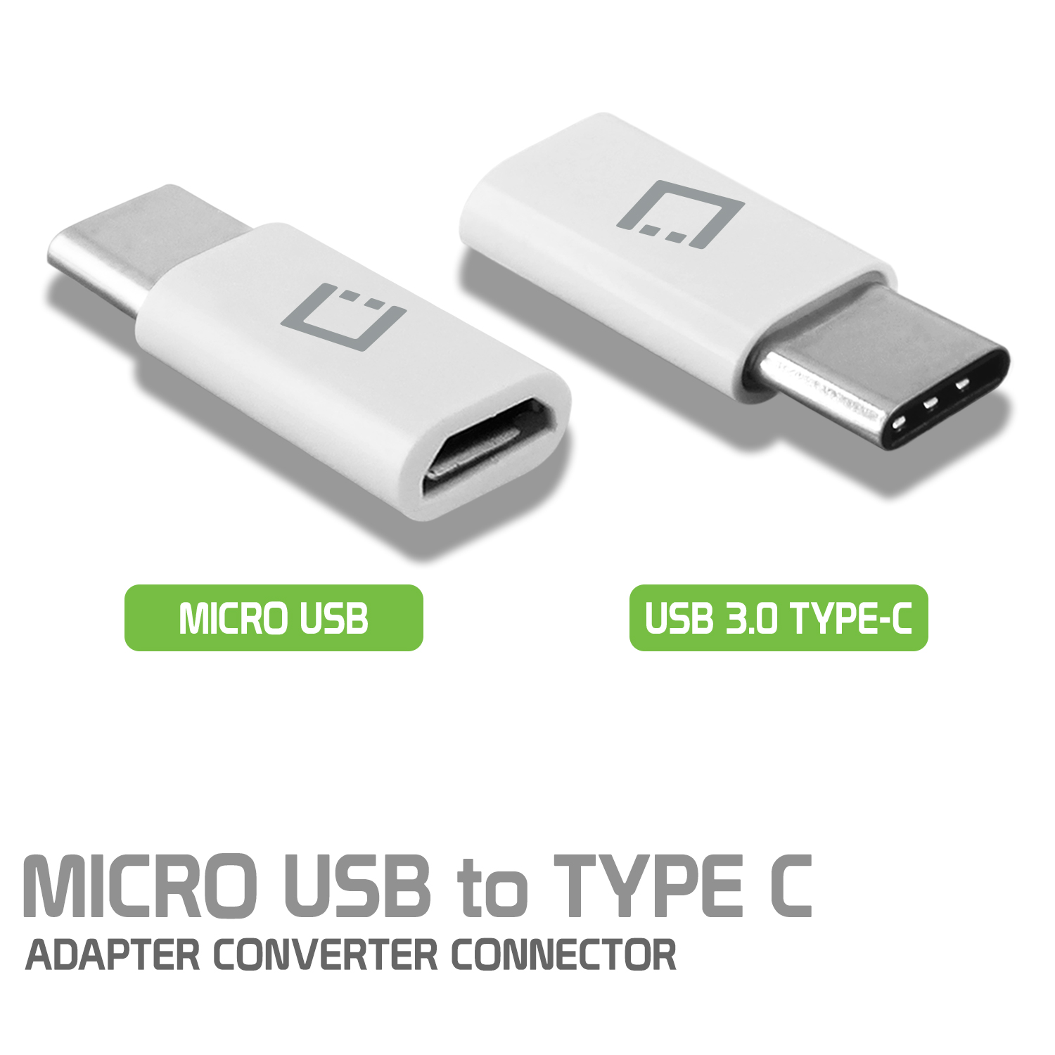 ZTE Blade Spark Micro USB to USB Type C Adapter Converter White