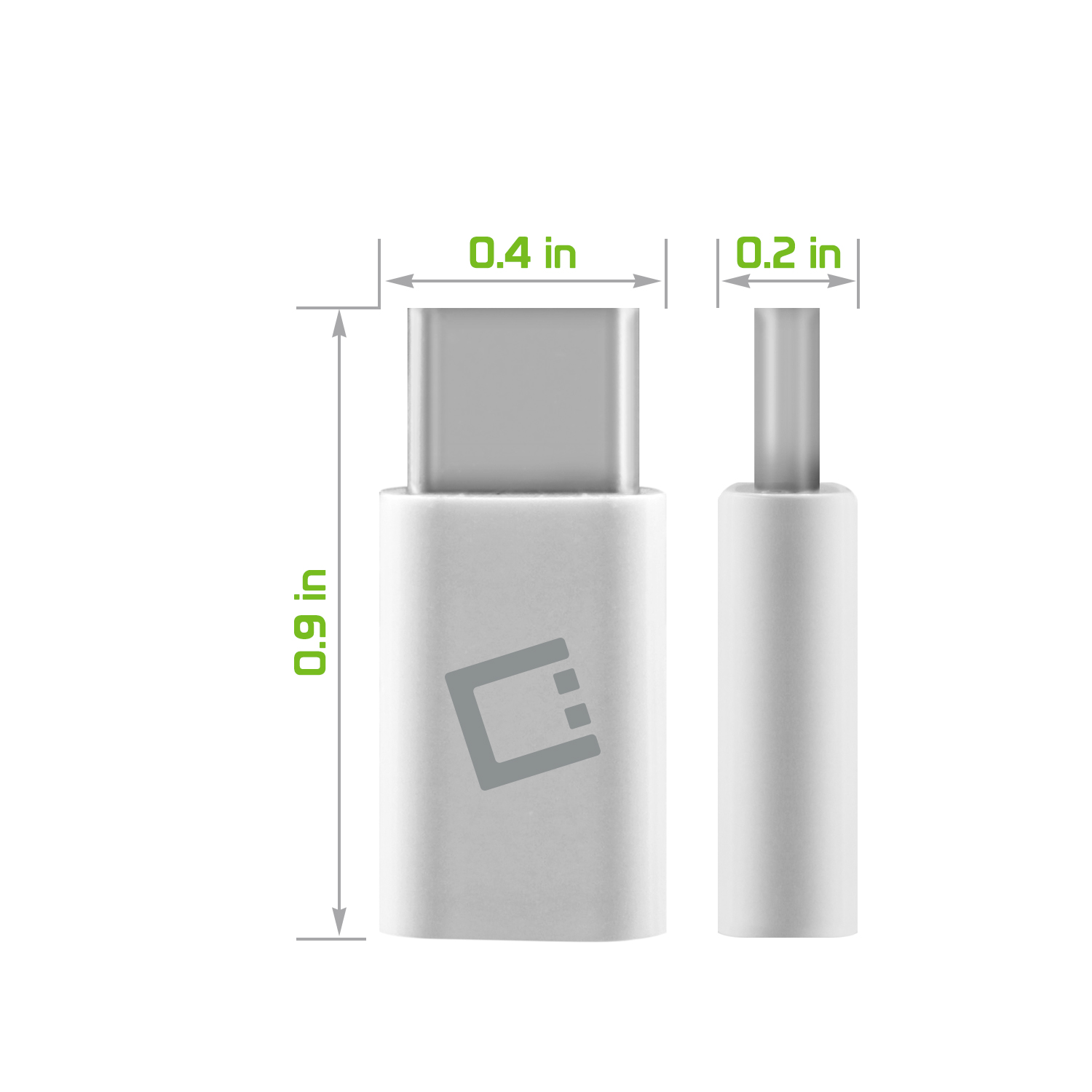 ZTE Max XL MicroUSB to USB Type-C Adapter White Pack Of 4