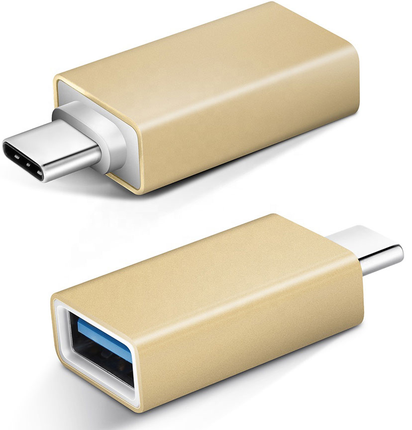 Samsung Galaxy A11 USB 3.1 Type A to USB Type C OTG Adapter Converter Rose Gold