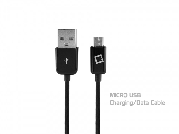 ZTE Unico LTE Data Charging Cable Black 4ft