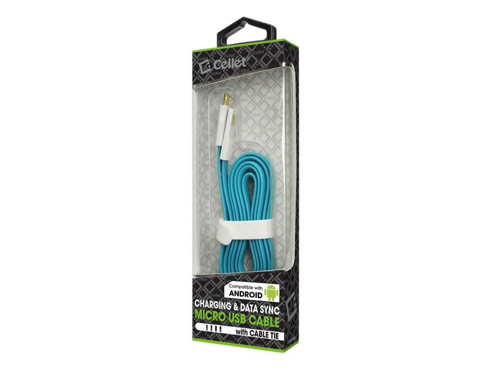 LG Xpression (C395) Flat Micro USB Data Charging Cable Blue