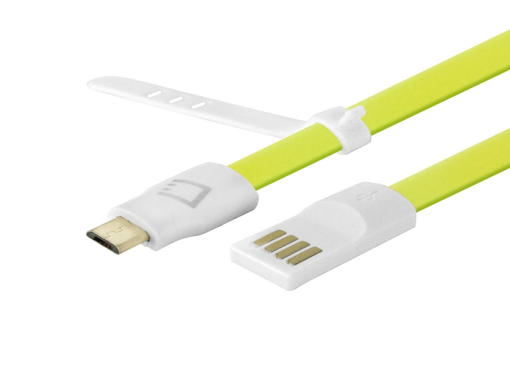 Kyocera Hydro Reach Data Charging Cable Micro-USB Green 3.3ft Flat