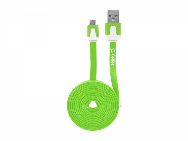 Sony Xperia Z Micro USB Flat Data Charging Cable Green