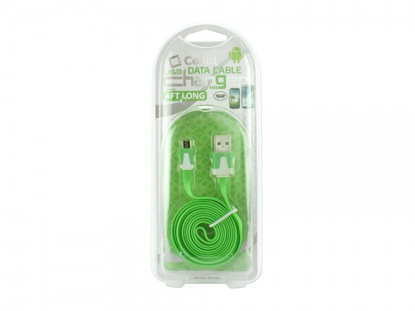 Nokia X2-01 Micro USB Flat Data Charging Cable Green
