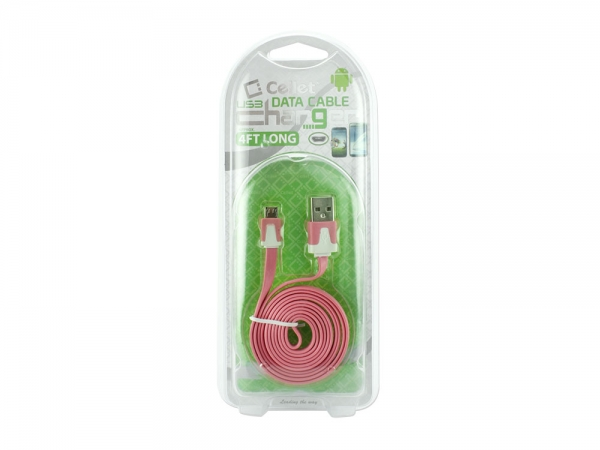 LG K30 Micro USB Flat Data Charging Cable Pink