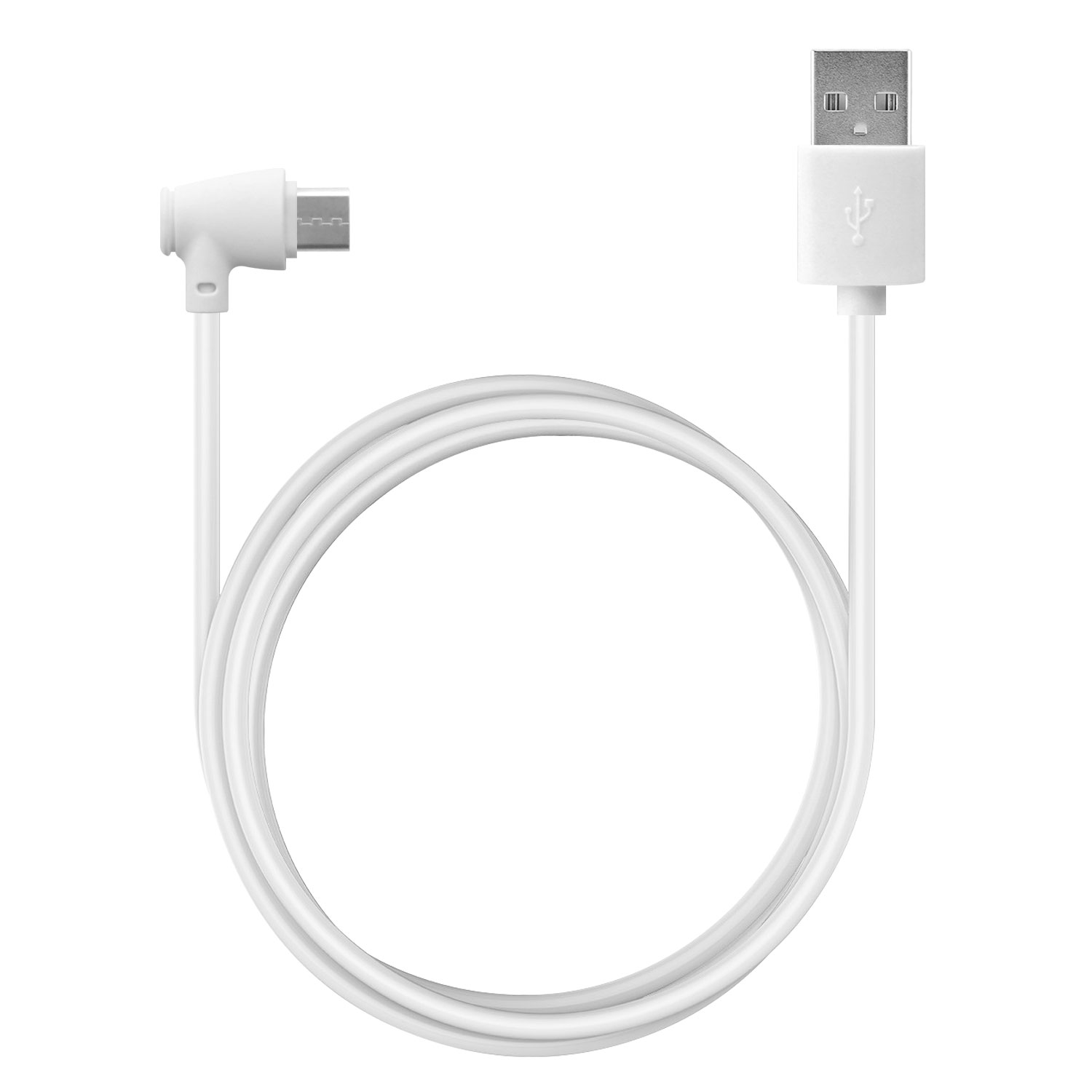 USB Type-C To USB Type-A Data Charging Cable White 3.3ft Angled