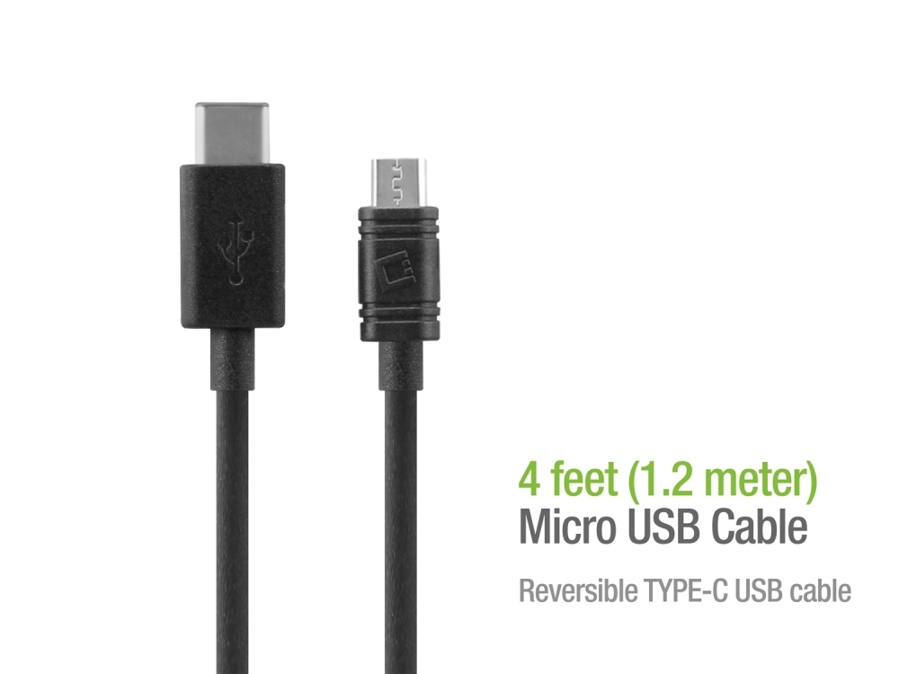 ZTE Blade Spark USB Type-C To Micro USB Data Charging Cable Black