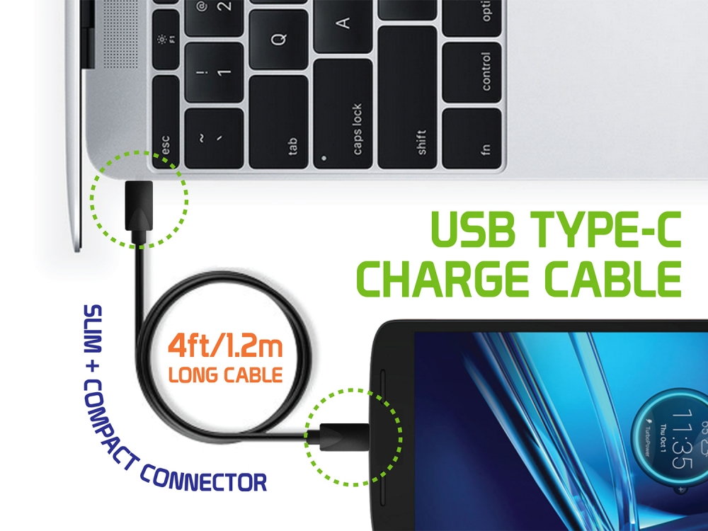 Coolpad Legacy S USB Type-C Data Charging Cable High Speed Black