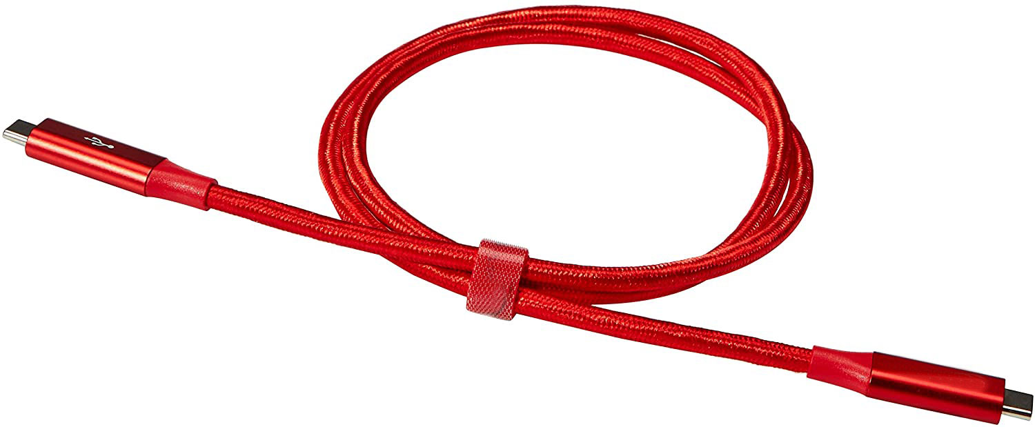 LG Q70 Power Delivery PD USB Type-C Data Charging Cable Red