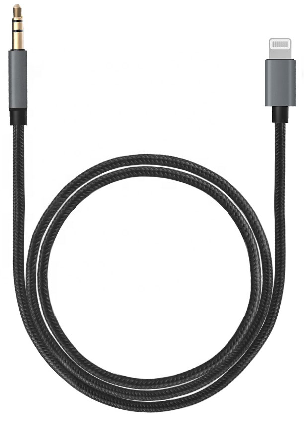 Apple iPhone SE 2020 Lightning Digital Audio Aux Converter 3.5mm Black 3ft