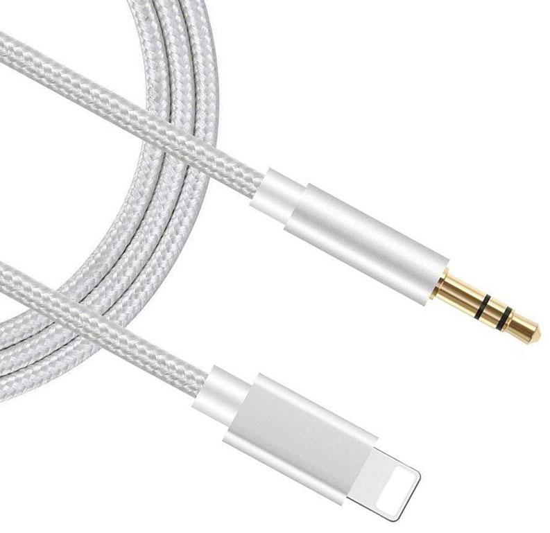 Apple iPhone 12 Pro Lightning Digital Audio Aux Converter 3.5mm White 3ft