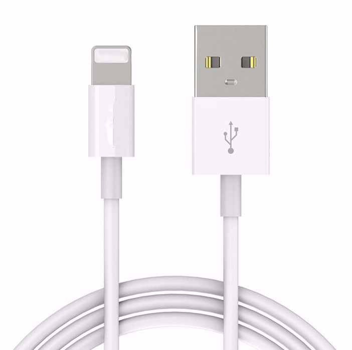 Apple iPhone 12 Pro Lightning To USB Cable White 10ft Solid Round