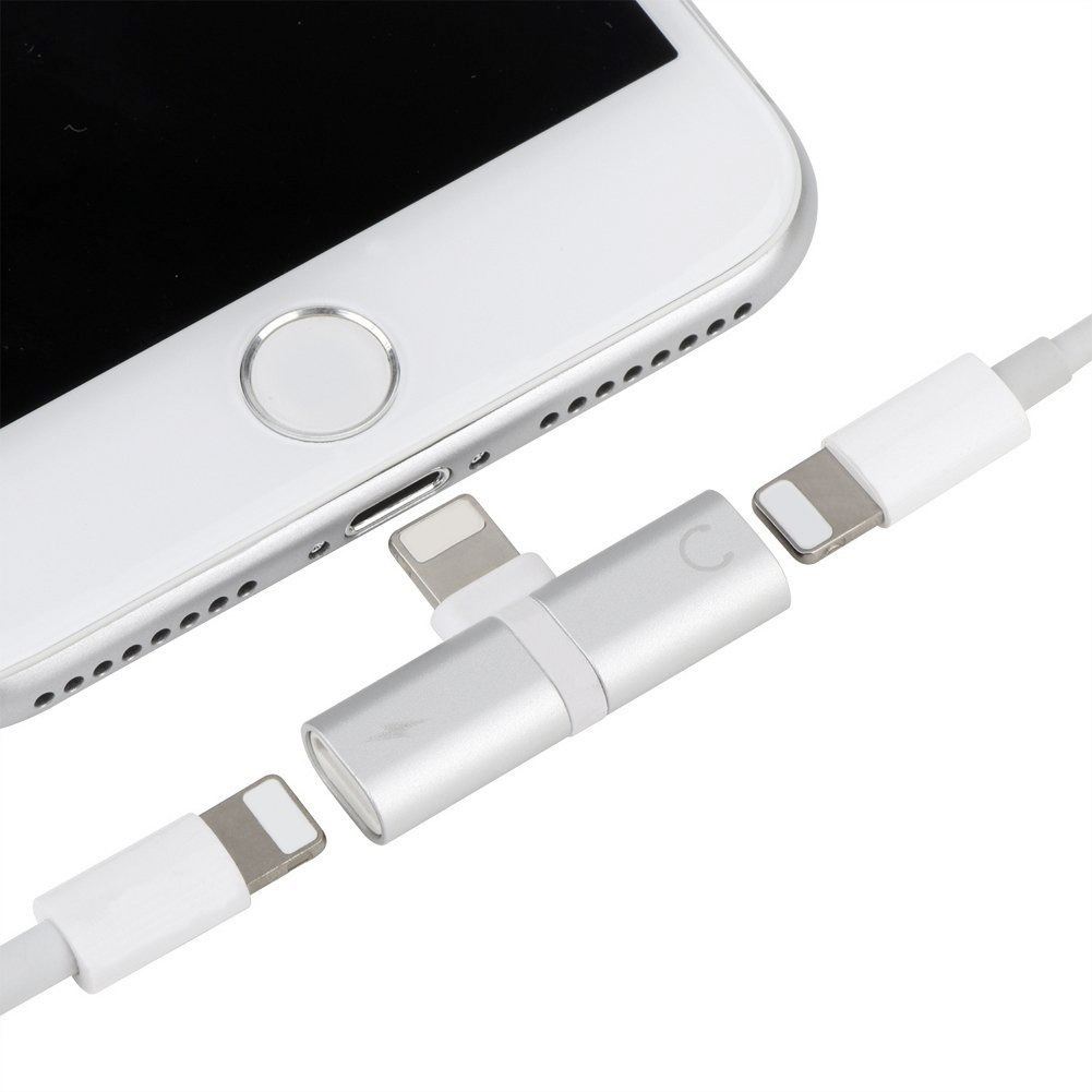 Apple iPhone 12 Pro Max Lightning Dongle Aux Audio And Charger Adapter Splitter