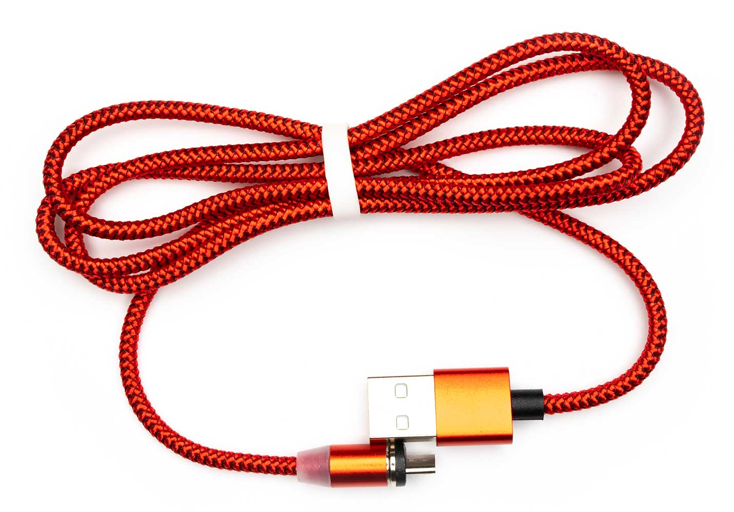 Alcatel Apprise Micro-USB Magnetic 4ft Data Power Cable Red