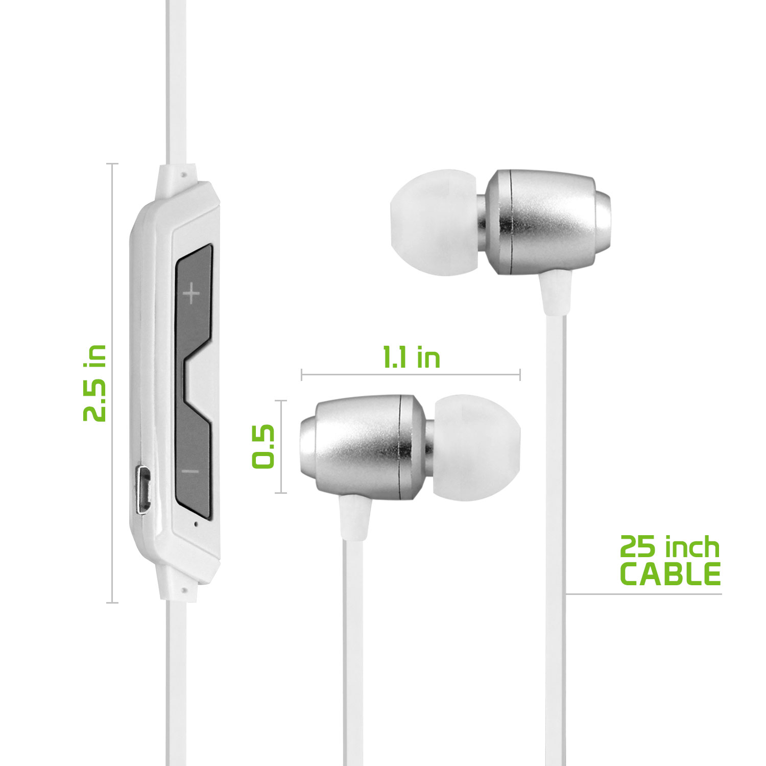 Samsung Galaxy J2 Pure Bluetooth Stereo Earphones Magnetic White