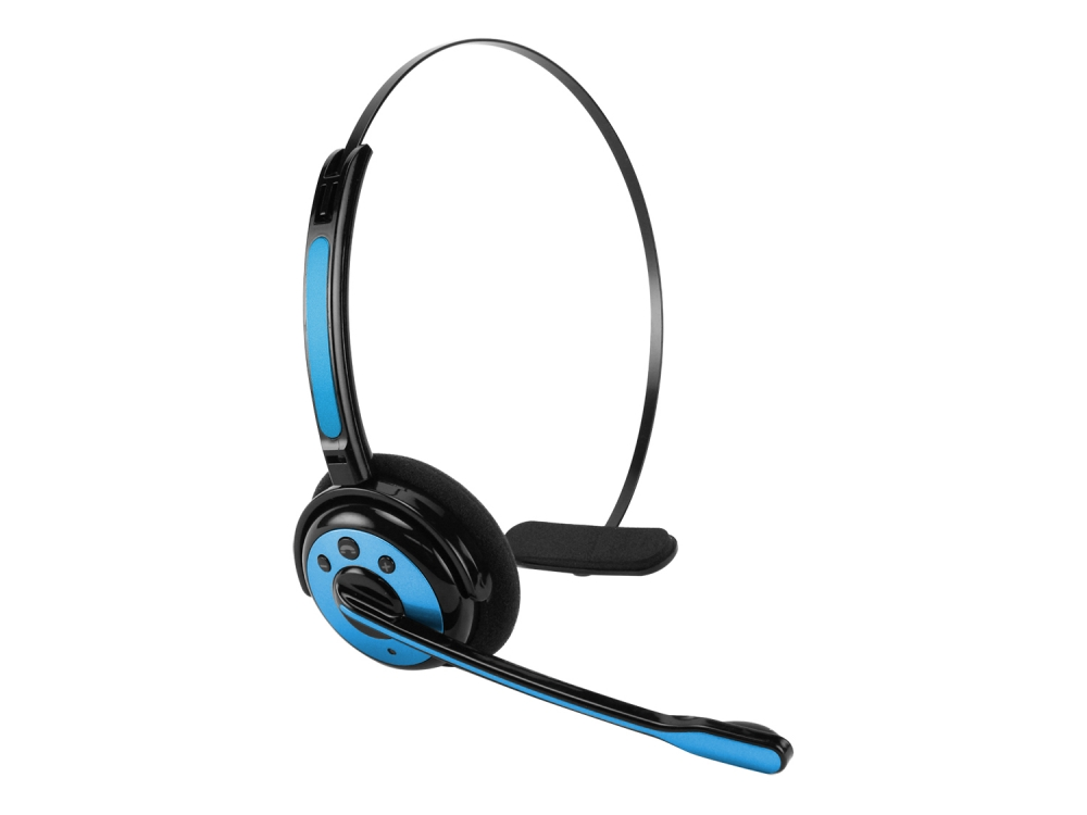 Professional Bluetooth Headset Earboom Blue