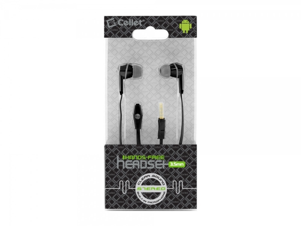 Moto Defy Earbud Hands Free Square+Extension Black