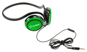 Alcatel Go Flip Headphones Handsfree Crystal Clear Sound Green