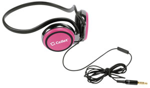Alcatel Go Flip Headphones Handsfree Crystal Clear Sound Pink