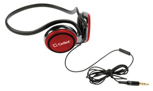 Headphones Handsfree Crystal Clear Sound Red