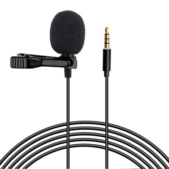 Clip-on Lavalier Lapel Microphone For Samsung Galaxy A11 Professional Grade Black