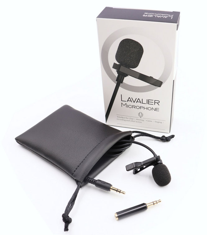 Samsung Galaxy S20 FE Fan Edition Clip-on Lavalier Lapel Microphone Youtuber Professional Grade Type-C Adapter