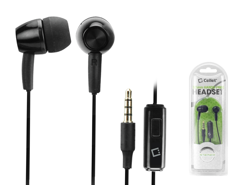 Cricket Icon Earphones Hands Free 2 Pack Black