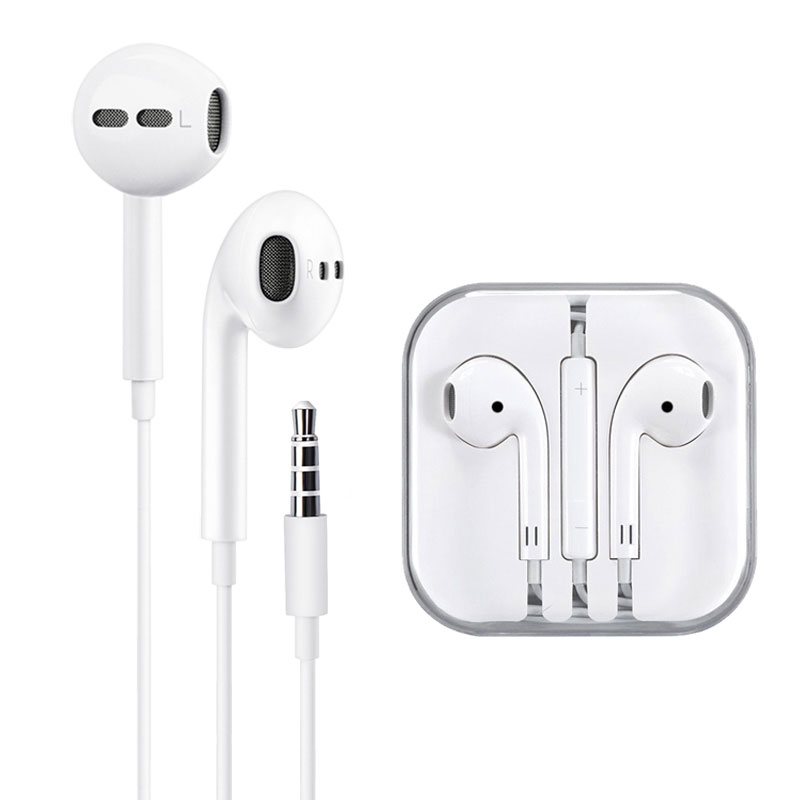 LG Stylo 6 Earphones Hands Free Volume Control White