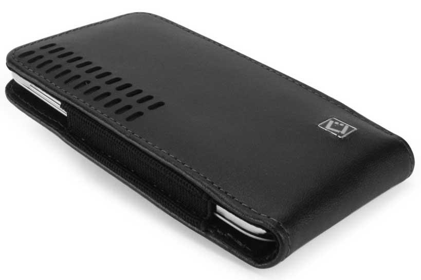 Samsung SGH-T989 Bergamo Leather Case Holster Black
