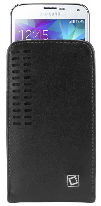 Samsung Epic 4G Touch Bergamo Leather Case 2 Clips Black