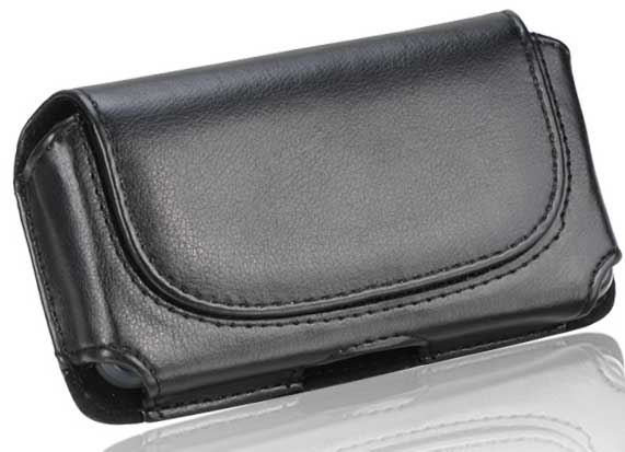 Black Leather DW Case Pouch Black