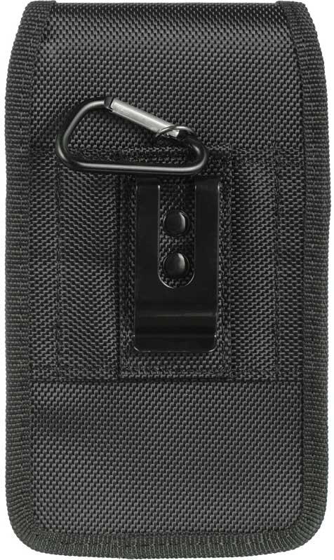 Nokia 6 Neoprene Nylon Case Pouch Clip Hook Black